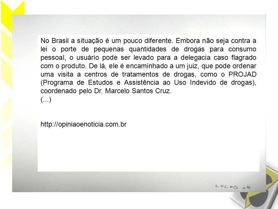 No Brasil a situação é um pouco diferente.