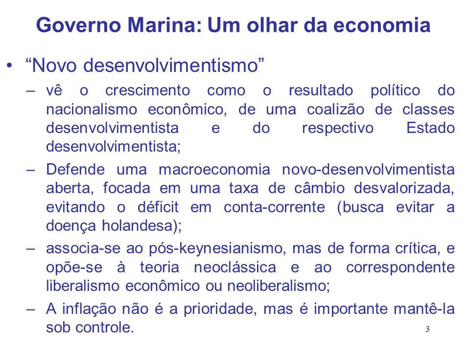 """3 """"Novo desenvolvimentismo"""" –vê o crescimento como o resultado político do nacionalismo econômico, de uma coalizão de classes desenvolvimentista e do"""