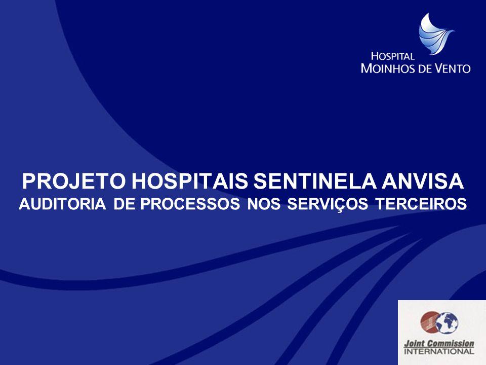 PROJETO HOSPITAIS SENTINELA ANVISA AUDITORIA DE PROCESSOS NOS SERVIÇOS TERCEIROS