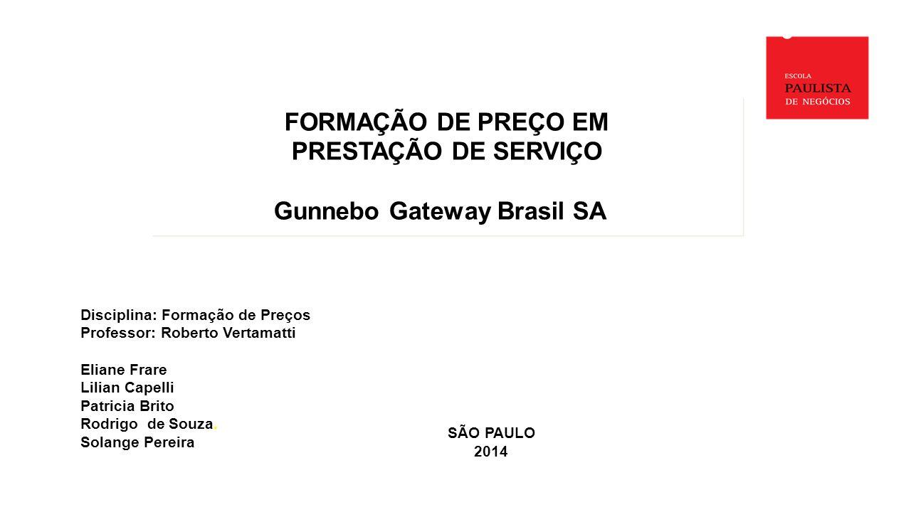 SÃO PAULO 2014 Disciplina: Formação de Preços Professor: Roberto Vertamatti Eliane Frare Lilian Capelli Patricia Brito Rodrigo de Souza.