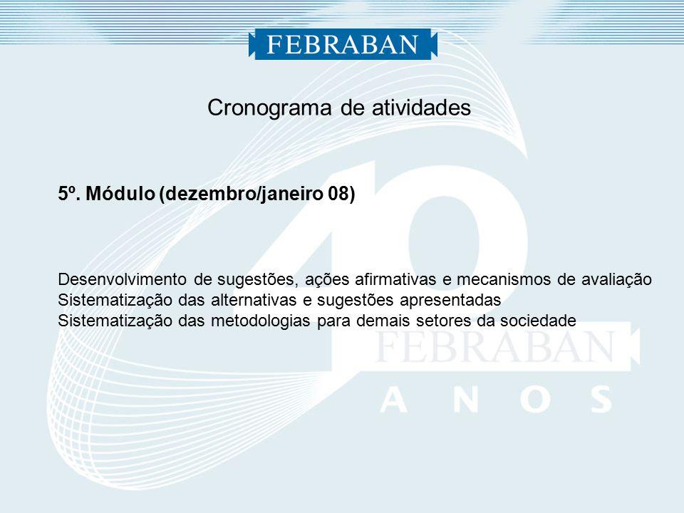 Cronograma de atividades 5º.