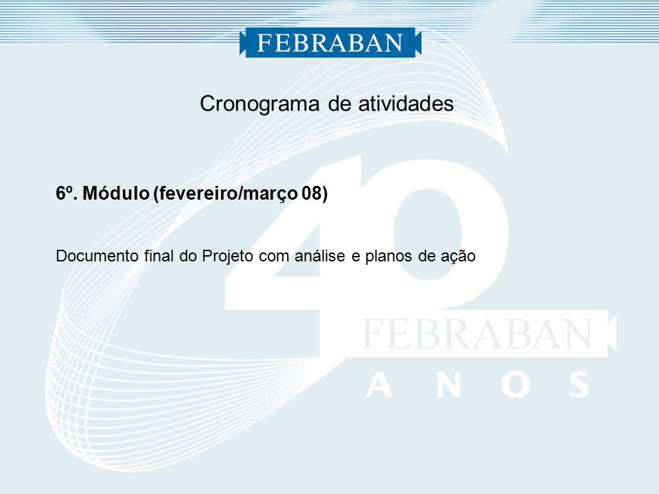 Cronograma de atividades 6º.