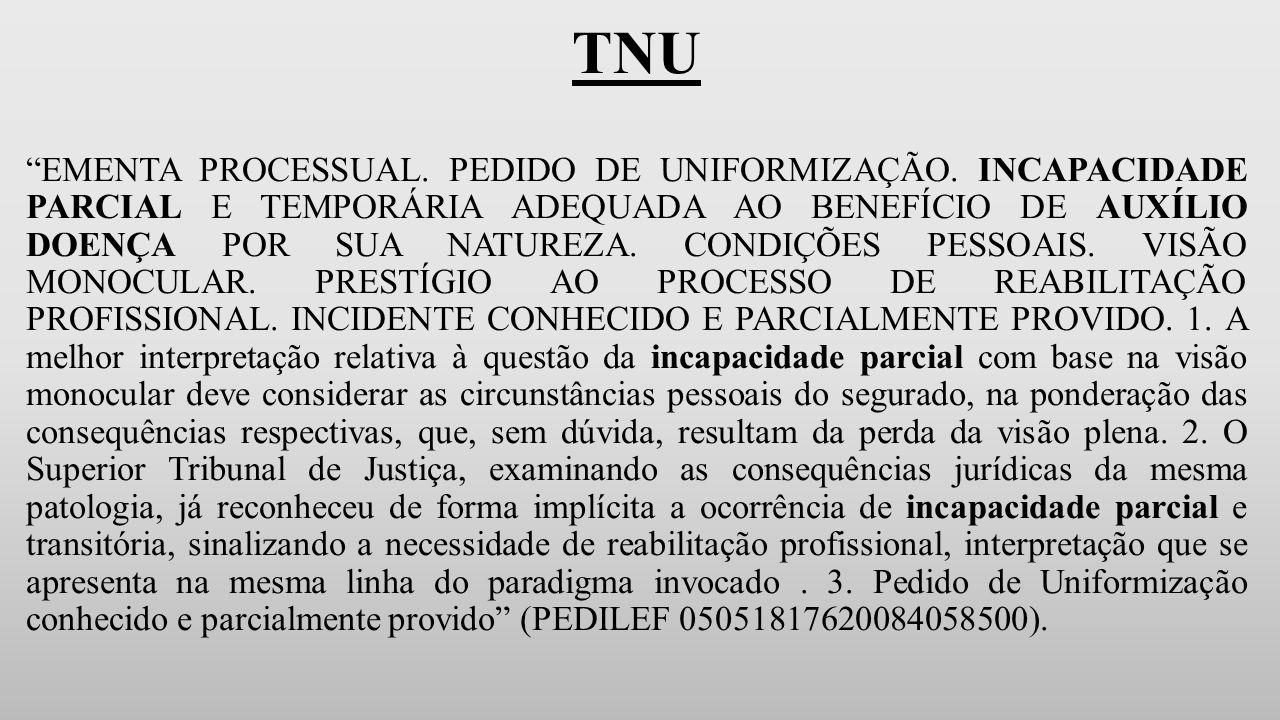 TNU EMENTA PROCESSUAL.PEDIDO DE UNIFORMIZAÇÃO.