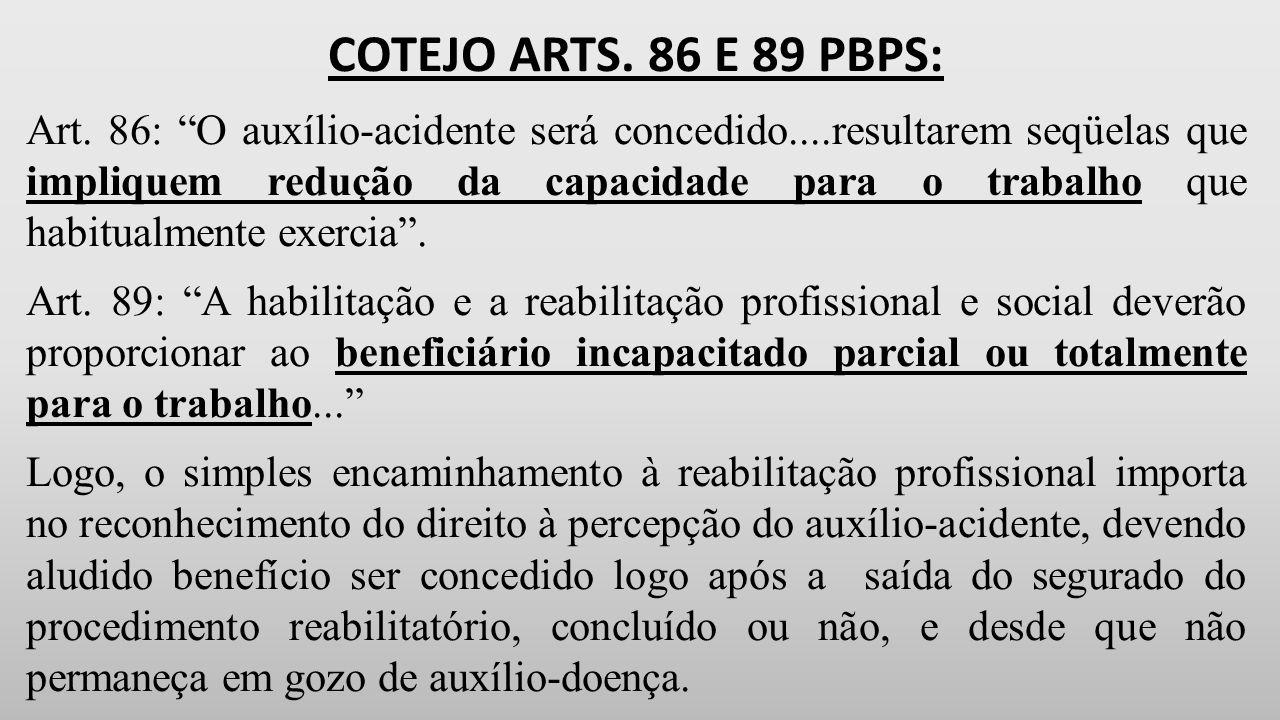 COTEJO ARTS.86 E 89 PBPS: Art.