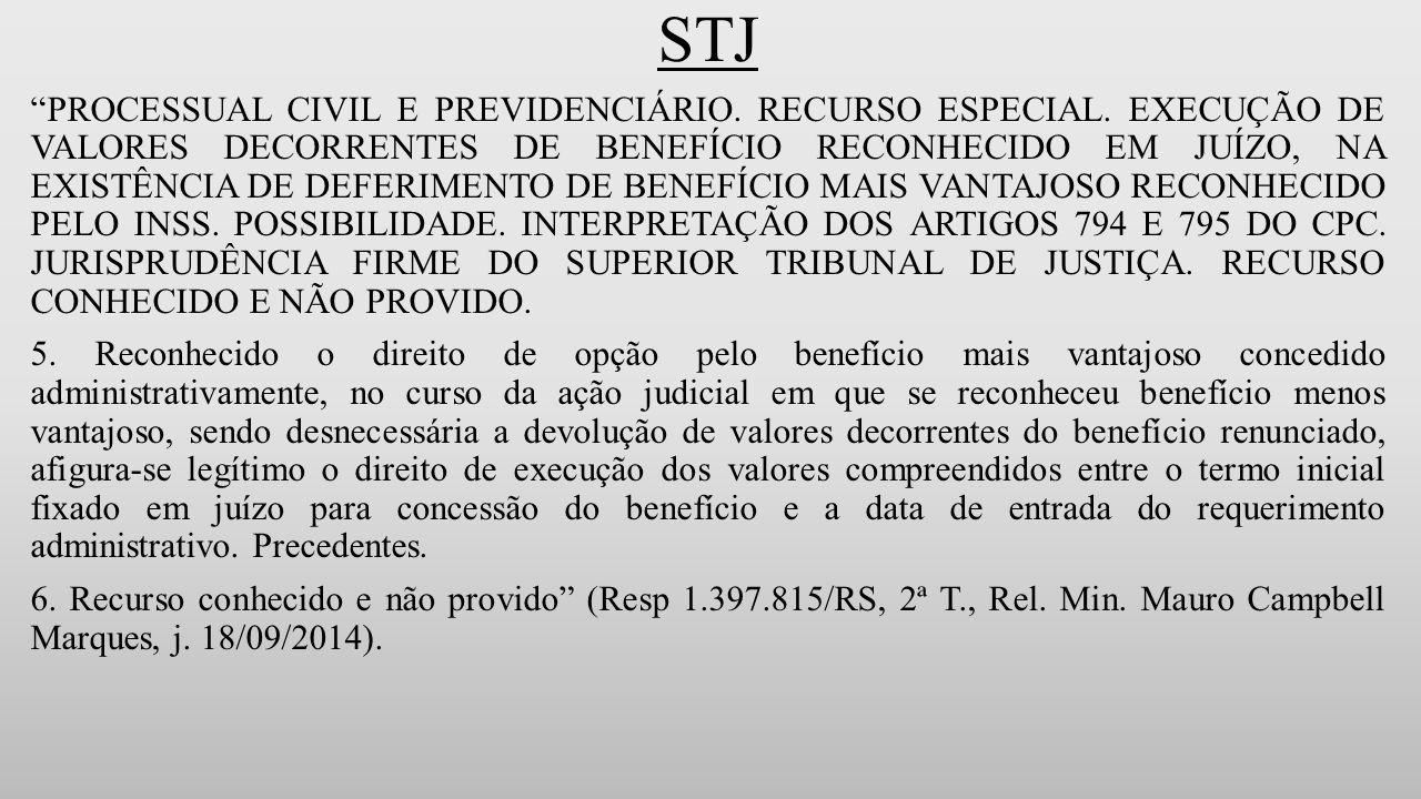 STJ PROCESSUAL CIVIL E PREVIDENCIÁRIO.RECURSO ESPECIAL.