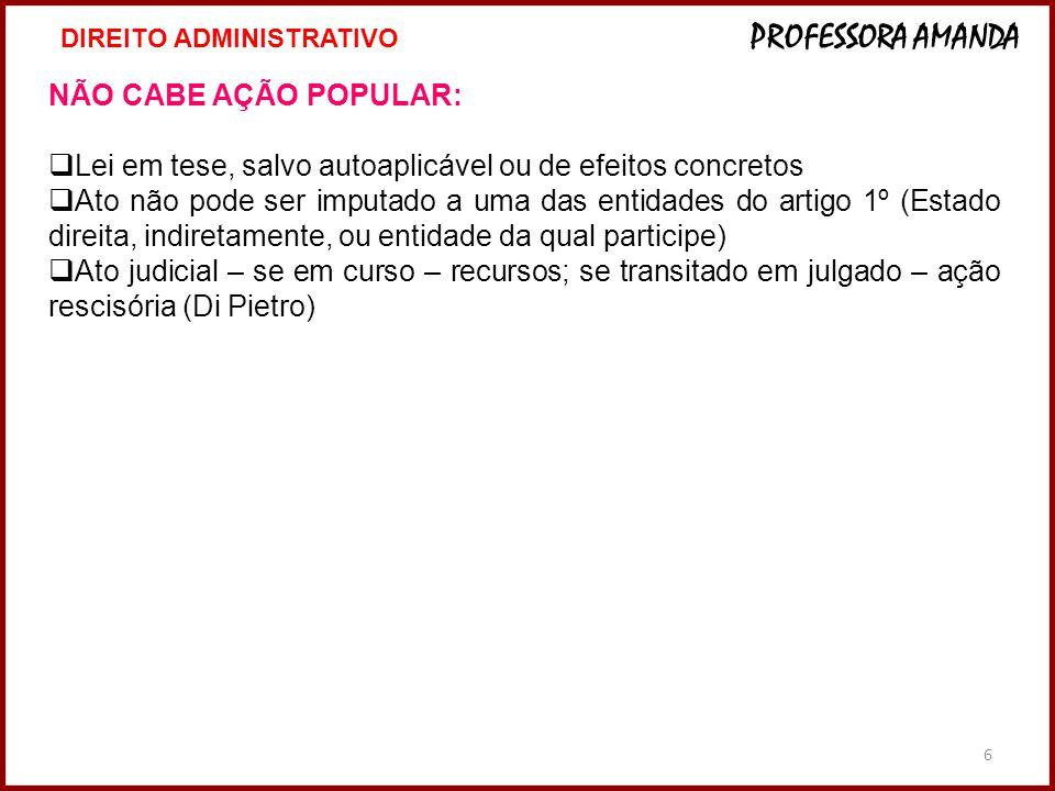 27 VII Exame da Ordem Unificado PROVA PRÁTICO-PROFISSIONAL Aplicação: 8/7/2012 ÁREA: DIREITO ADMINISTRATIVO PADRÃO DE RESPOSTA - PEÇA PROFISSIONAL Enunciado O Município Y, representado pelo Prefeito João da Silva, celebrou contrato administrativo com a empresa W – cujo sócio majoritário vem a ser Antonio Precioso, filho da companheira do Prefeito –, tendo por objeto o fornecimento de material escolar para toda a rede pública municipal de ensino, pelo prazo de sessenta meses.