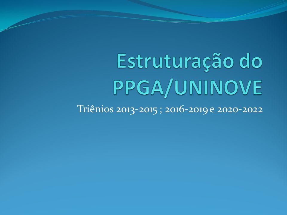 Triênios 2013-2015 ; 2016-2019 e 2020-2022