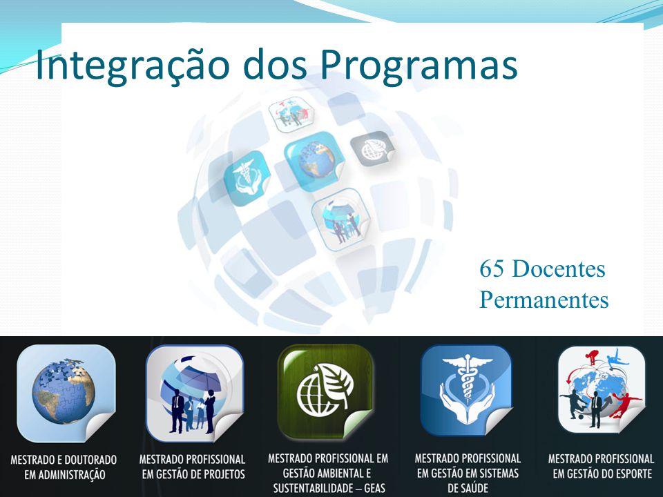 Integração dos Programas 65 Docentes Permanentes