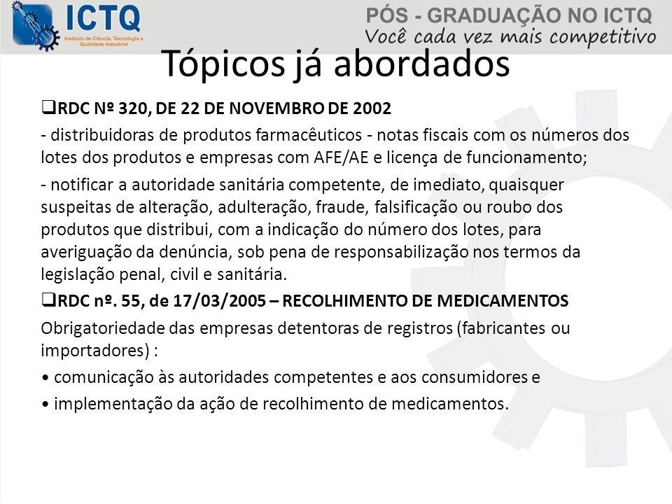 COTA ANUAL DE IMPORTAÇÃO É a quantidade de substância constante das listas A1 e A2 (entorpecentes), A3 , B1 e B2 (psicotrópicos) e D1 (precursores) que a empresa poderá importar, mediante solicitação de AI Prazo para solicitação: 1 a 31 de outubro de cada ano Documentos exigidos: - Formulário de Petição (Anexo I); - Via original do comprovante de pagamento da GRU; - Justificativa técnica; - Estimativa de utilização e distribuição, quando se tratar de primeira solicitação de Cota.