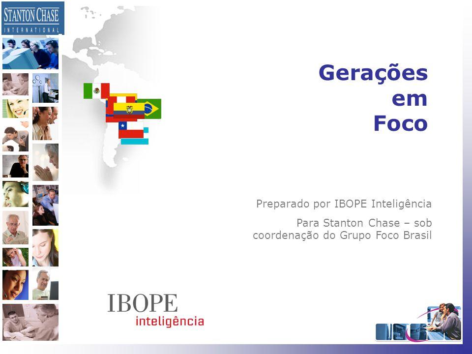 1 Gerações em Foco Preparado por IBOPE Inteligência Para Stanton Chase – sob coordenação do Grupo Foco Brasil