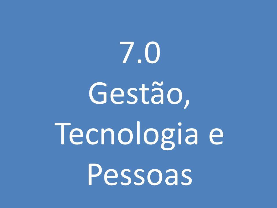 7.0 Gestão, Tecnologia e Pessoas