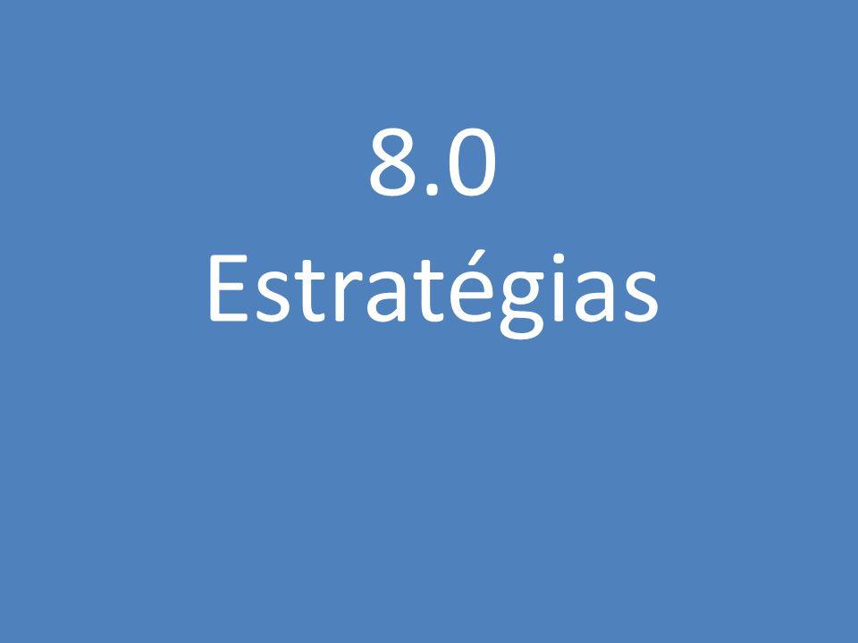 8.0 Estratégias