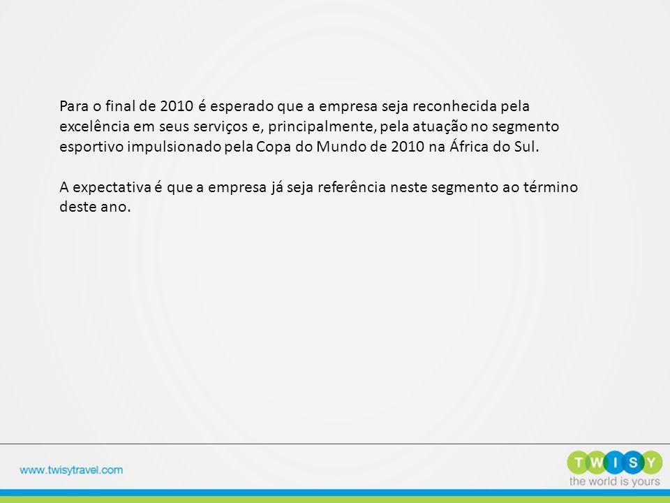 Para o final de 2010 é esperado que a empresa seja reconhecida pela excelência em seus serviços e, principalmente, pela atuação no segmento esportivo