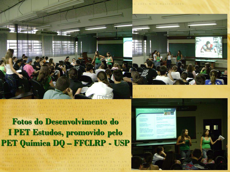 11 Fotos do Desenvolvimento do I PET Estudos, promovido pelo PET Química DQ – FFCLRP - USP