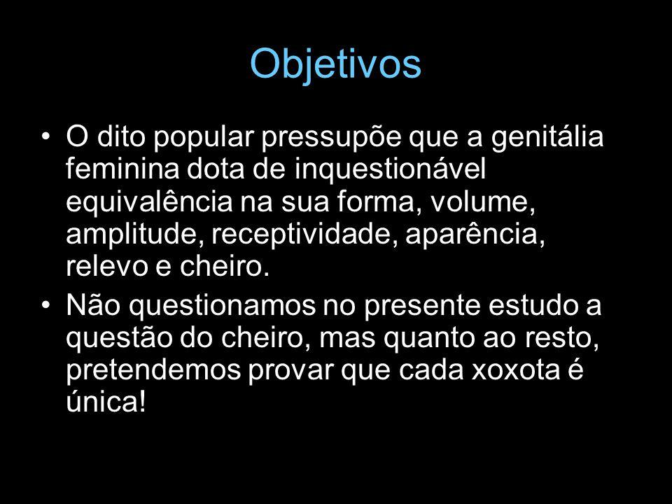 Objetivos O dito popular pressupõe que a genitália feminina dota de inquestionável equivalência na sua forma, volume, amplitude, receptividade, aparên