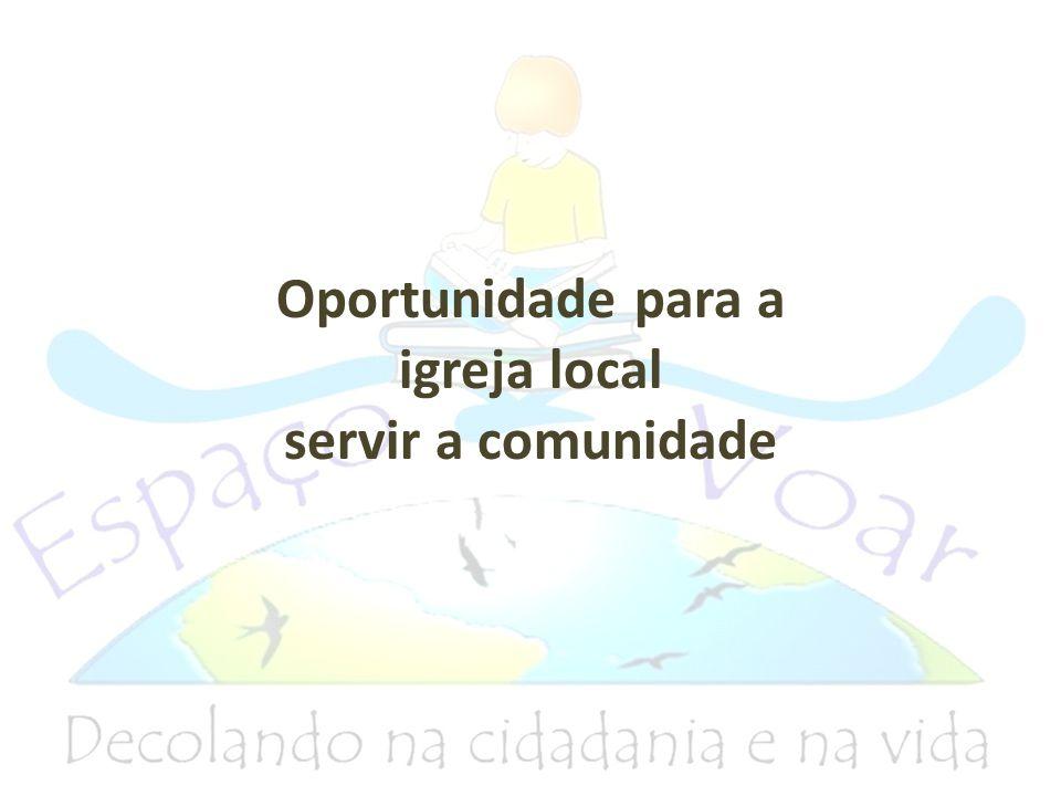 Oportunidade para a igreja local servir a comunidade