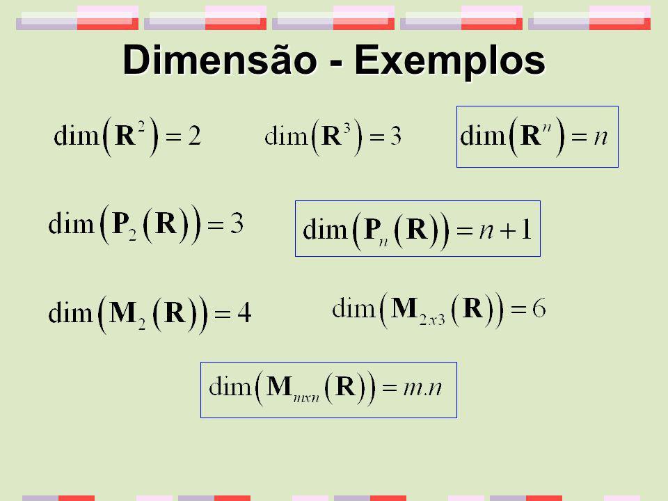 Dimensão - Exemplos