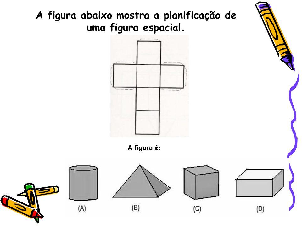 A figura abaixo mostra a planificação de uma figura espacial. A figura é :
