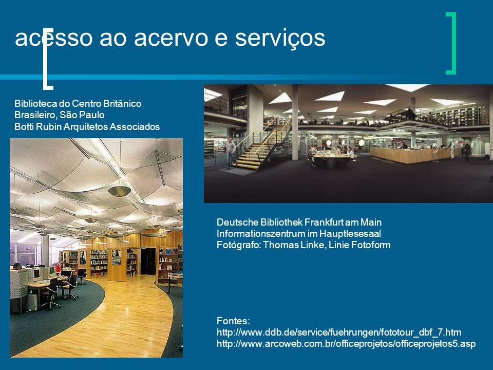 acesso ao acervo e serviços Biblioteca do Centro Britânico Brasileiro, São Paulo Botti Rubin Arquitetos Associados Deutsche Bibliothek Frankfurt am Ma