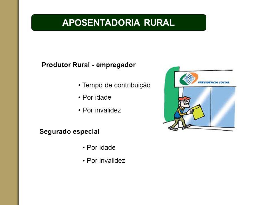 ESPAÇO RESERVADO PARA O NOME DO PROJETO | TÓPICO APOSENTADORIA RURAL Segurado especial Produtor Rural - empregador Tempo de contribuição Por idade Por