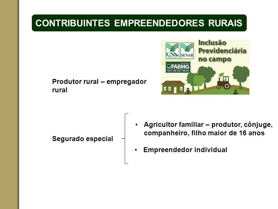 ESPAÇO RESERVADO PARA O NOME DO PROJETO | TÓPICO CONTRIBUINTES EMPREENDEDORES RURAIS Produtor rural – empregador rural Segurado especial Agricultor fa