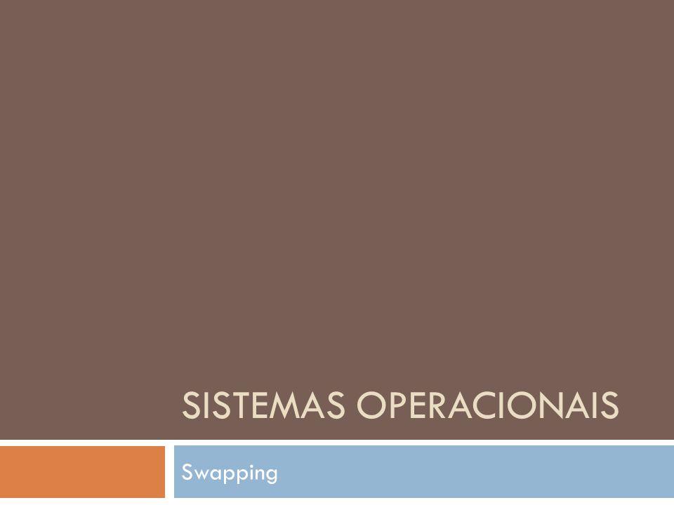 SISTEMAS OPERACIONAIS Swapping
