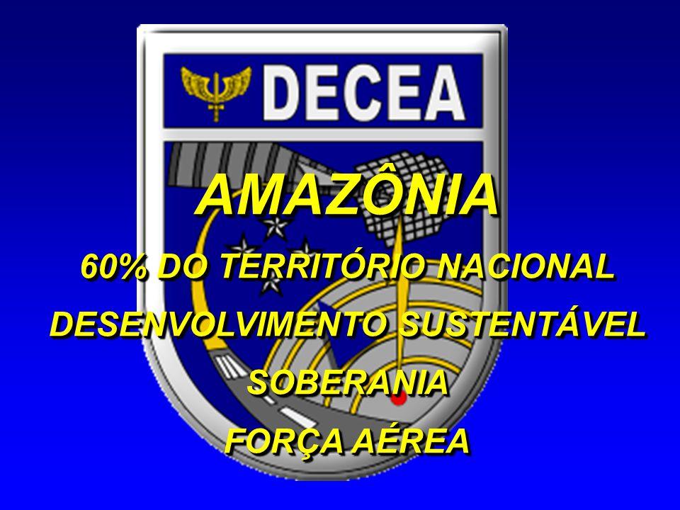 AMAZÔNIA 60% DO TERRITÓRIO NACIONAL DESENVOLVIMENTO SUSTENTÁVEL SOBERANIA FORÇA AÉREA AMAZÔNIA 60% DO TERRITÓRIO NACIONAL DESENVOLVIMENTO SUSTENTÁVEL SOBERANIA FORÇA AÉREA