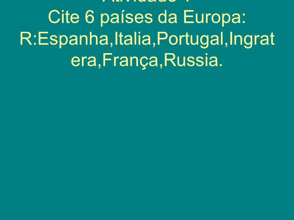 2)Comente os principais rios da Europa e sua importância.