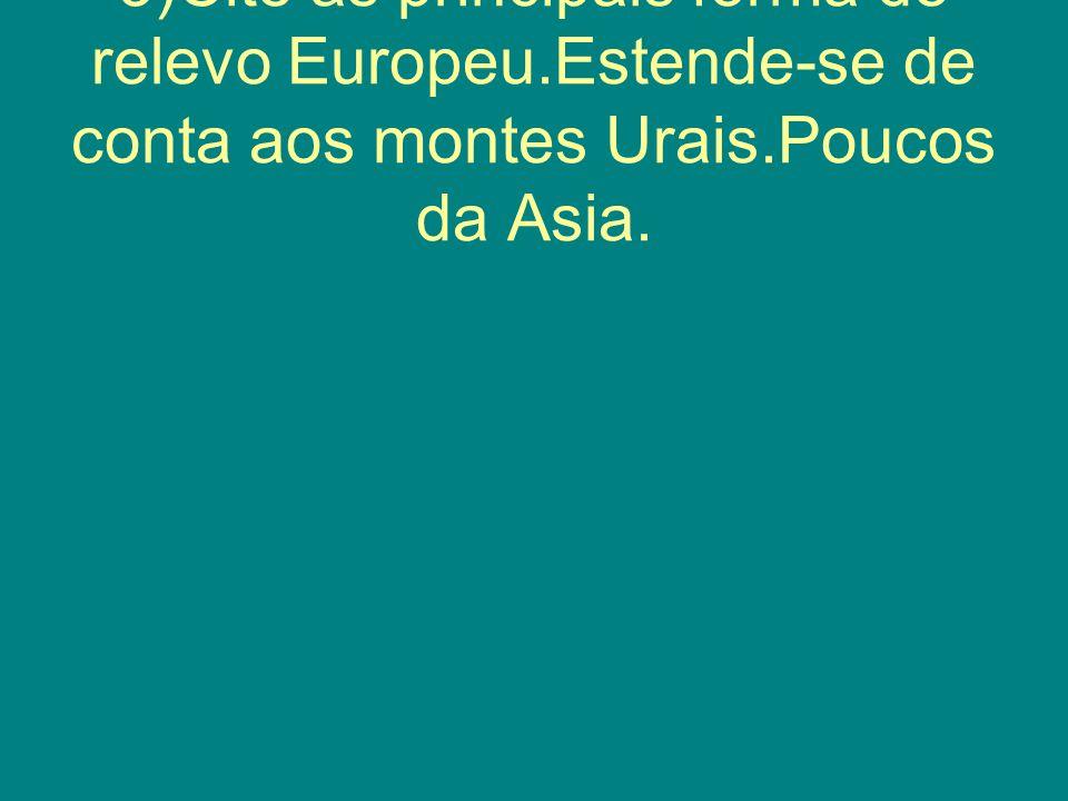 4)Cite os cima da Europa;Clima temperado