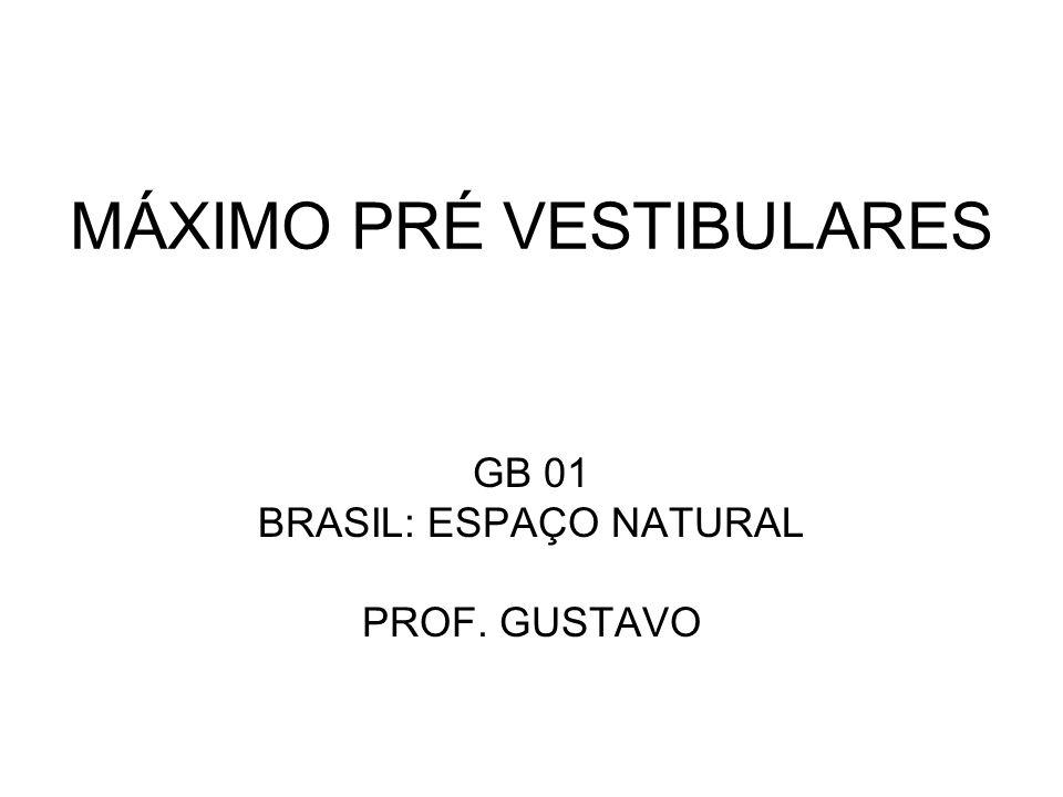 MÁXIMO PRÉ VESTIBULARES GB 01 BRASIL: ESPAÇO NATURAL PROF. GUSTAVO
