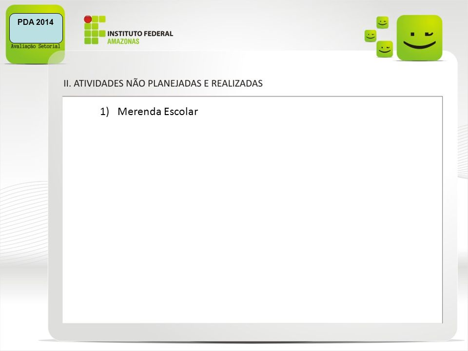 1)Merenda Escolar PDA 2014