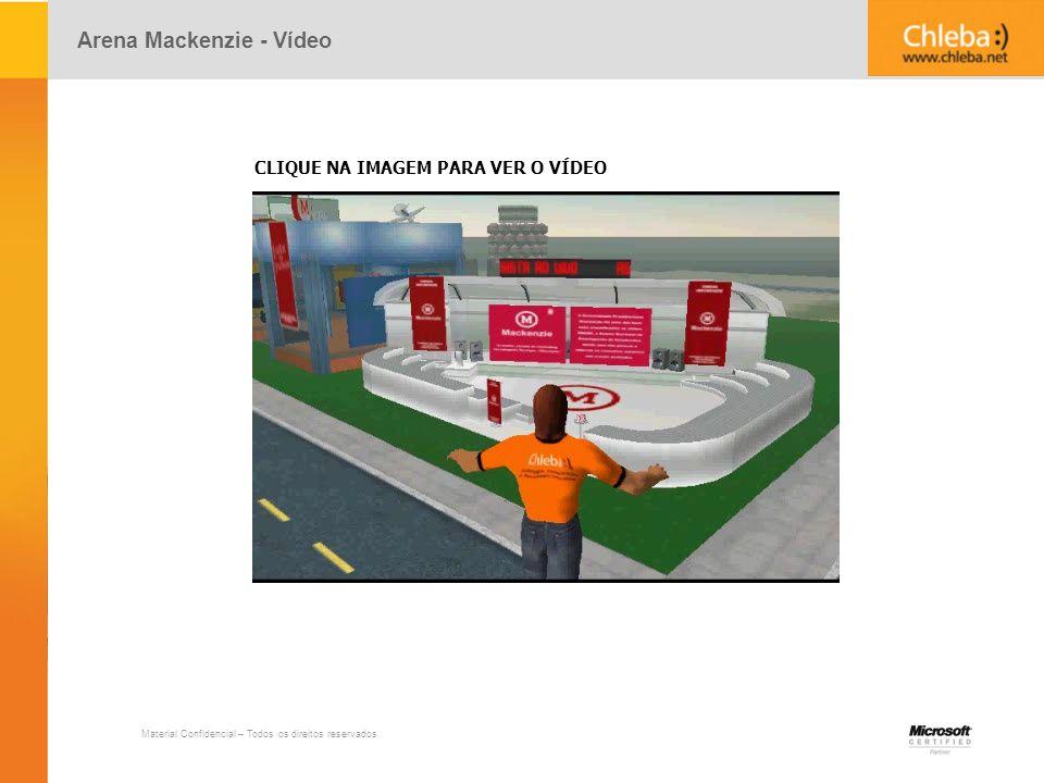 Material Confidencial – Todos os direitos reservados Arena Mackenzie - Vídeo CLIQUE NA IMAGEM PARA VER O VÍDEO