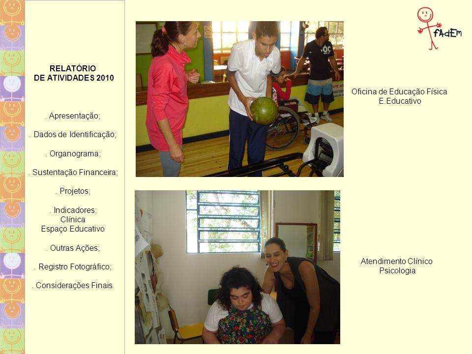 RELATÓRIO DE ATIVIDADES 2010.Apresentação;. Dados de Identificação;.