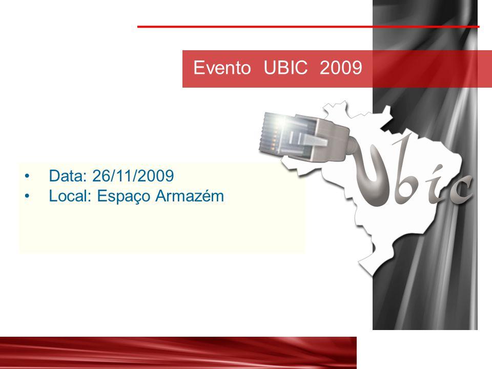 Data: 26/11/2009 Local: Espaço Armazém Evento UBIC 2009