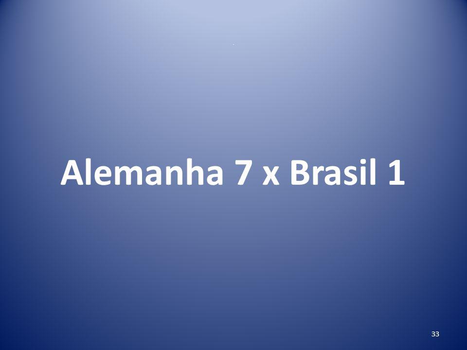 . Alemanha 7 x Brasil 1 33