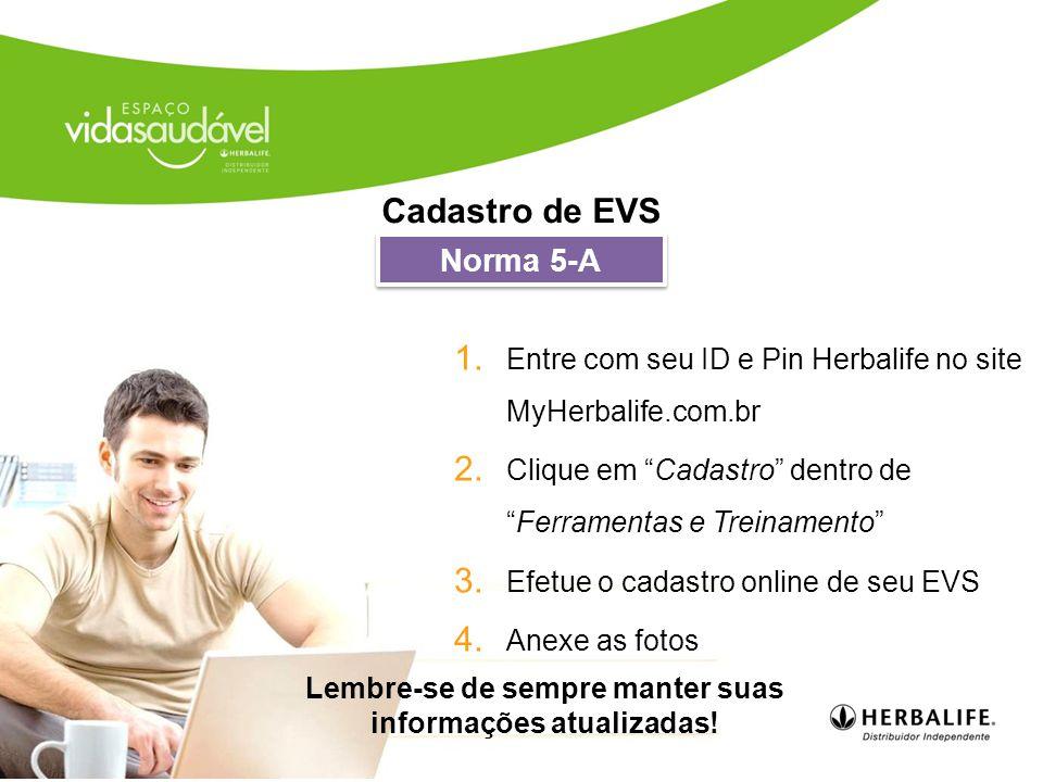 1.Entre com seu ID e Pin Herbalife no site MyHerbalife.com.br 2.
