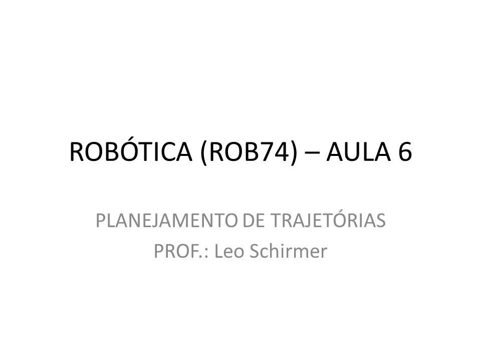 ROBÓTICA (ROB74) – AULA 6 PLANEJAMENTO DE TRAJETÓRIAS PROF.: Leo Schirmer