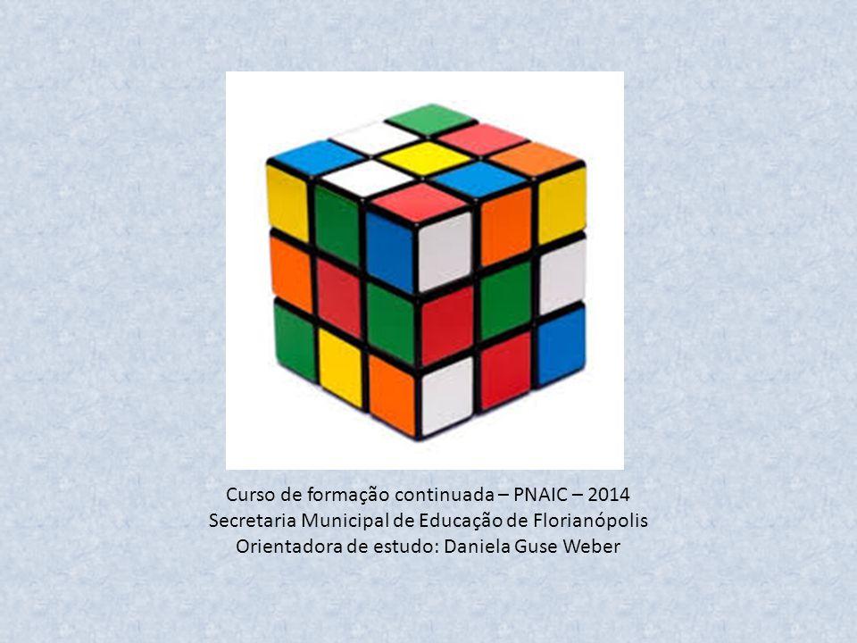 Curso de formação continuada – PNAIC – 2014 Secretaria Municipal de Educação de Florianópolis Orientadora de estudo: Daniela Guse Weber