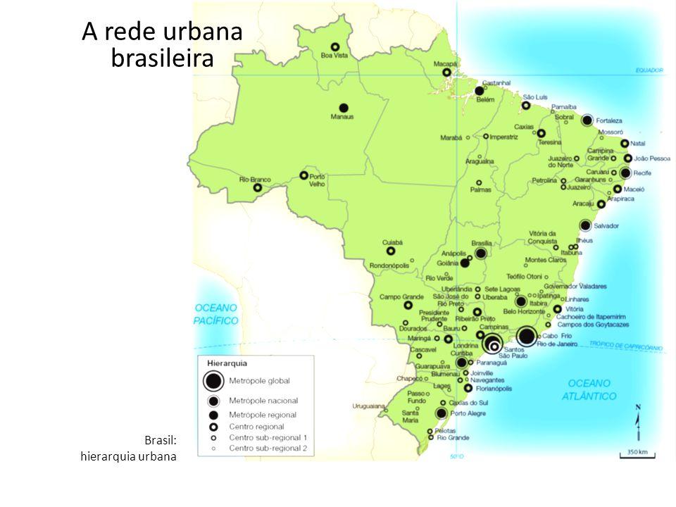 A rede urbana brasileira Brasil: hierarquia urbana
