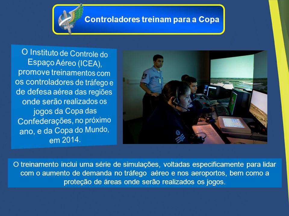 O treinamento inclui uma série de simulações, voltadas especificamente para lidar com o aumento de demanda no tráfego aéreo e nos aeroportos, bem como