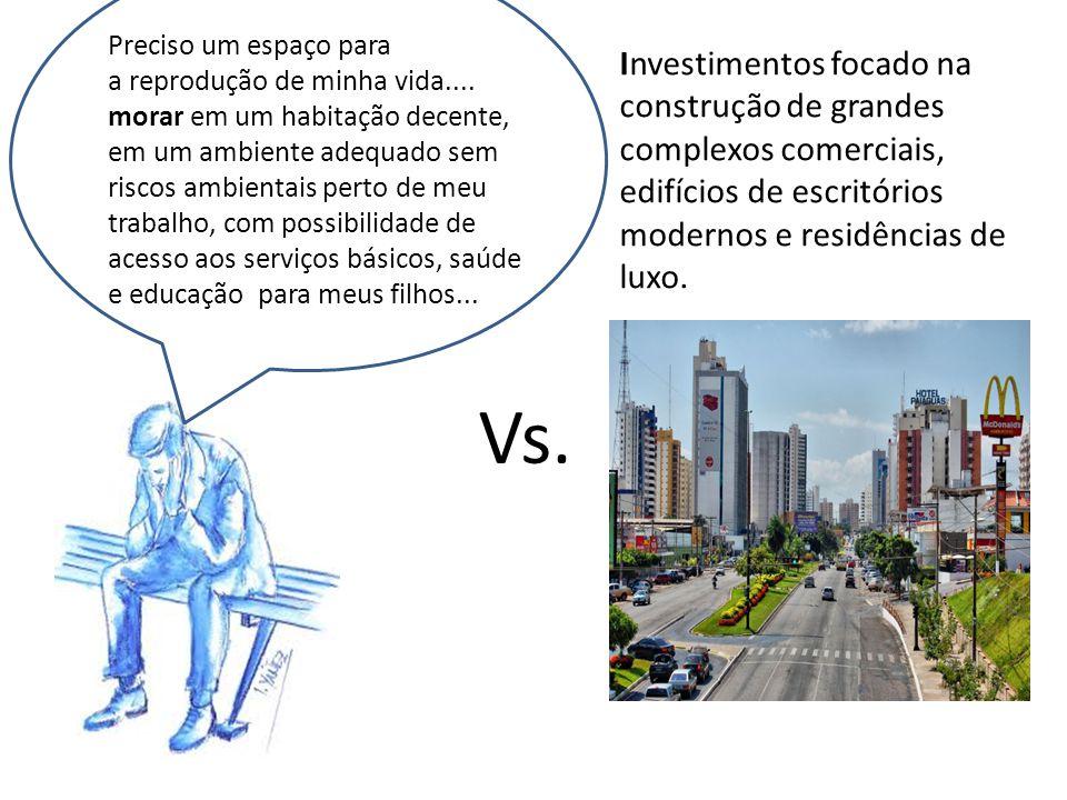 A s duas áreas serão focadas por nós como objeto de estudo, como parte de espaços em disputa entre a lógica capitalista, a renovação urbana e o espaço para a reprodução da vida, o habitat.