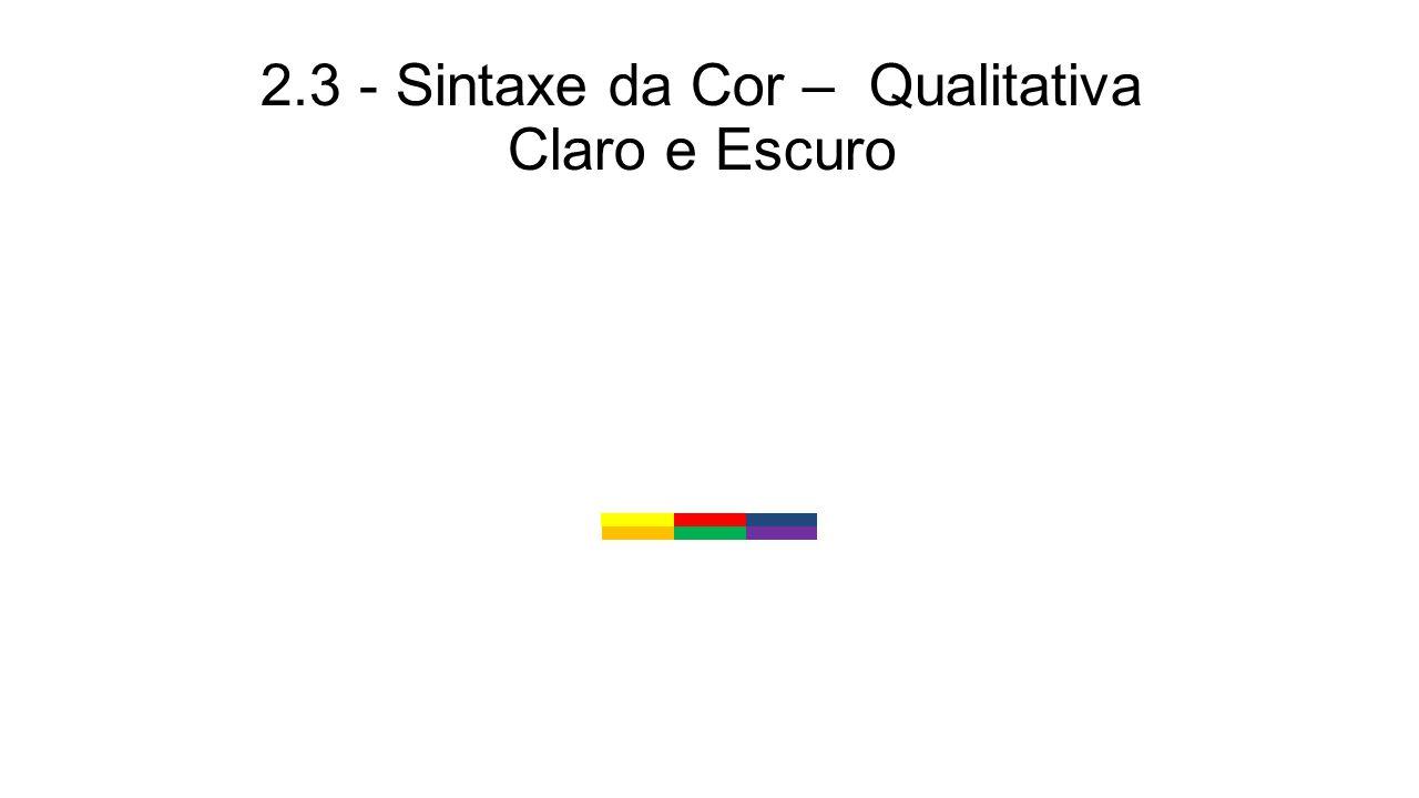 2.3 - Sintaxe da Cor – Qualitativa Claro e Escuro