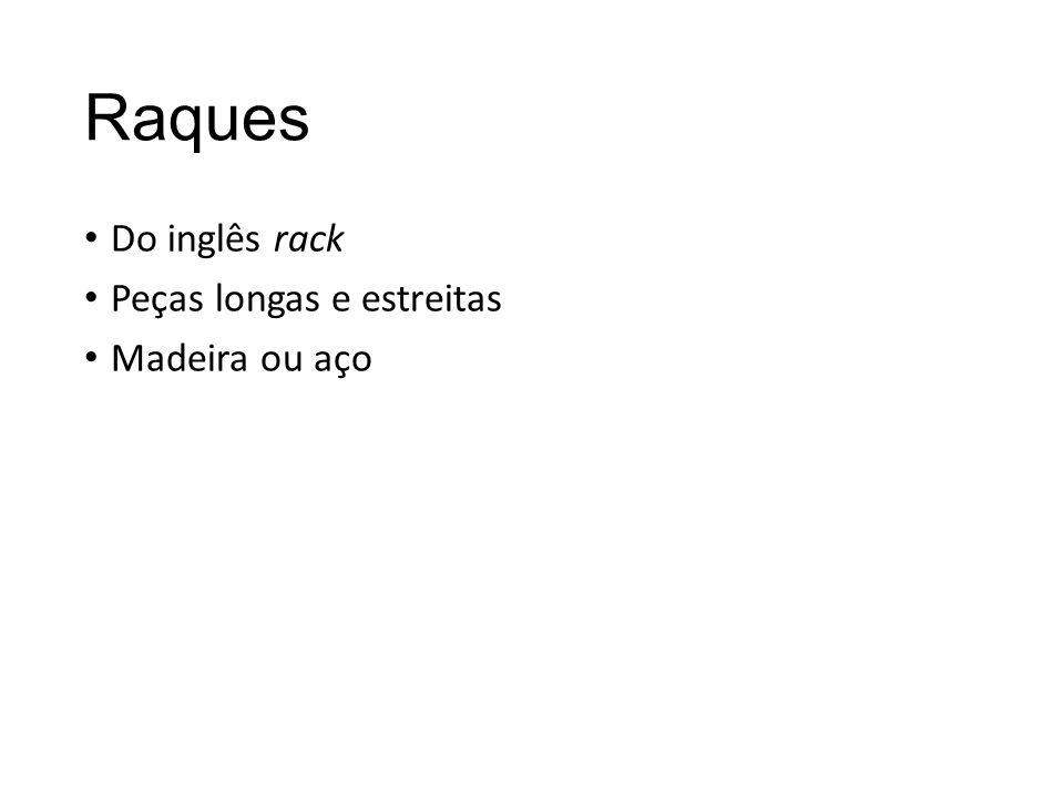 Raques Do inglês rack Peças longas e estreitas Madeira ou aço