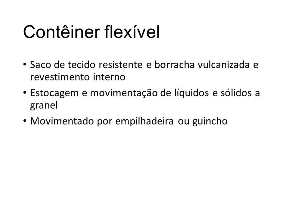 Contêiner flexível Saco de tecido resistente e borracha vulcanizada e revestimento interno Estocagem e movimentação de líquidos e sólidos a granel Mov