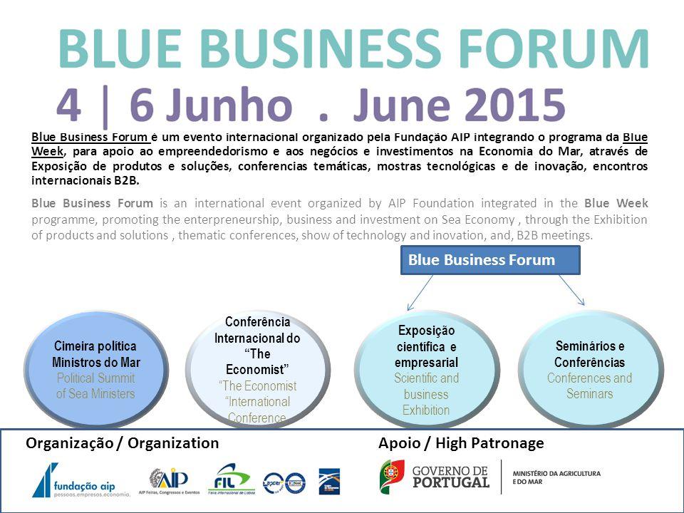 1º Forum da Economia do Mar Centro de Congressos de Lisboa, Junho 2015 Objectivos: Contribuir para responder aos desafios colocados para a promoção, crescimento e competitividade da economia do mar, nomeadamente, as importantes alterações verificadas no âmbito político e estratégico a nível europeu e mundial.