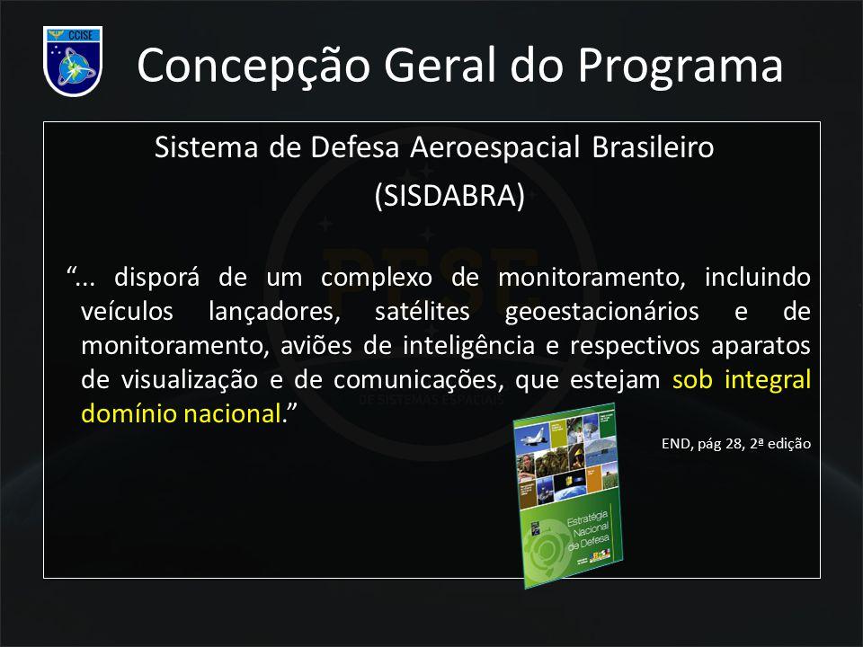 """Sistema de Defesa Aeroespacial Brasileiro (SISDABRA) """"... disporá de um complexo de monitoramento, incluindo veículos lançadores, satélites geoestacio"""