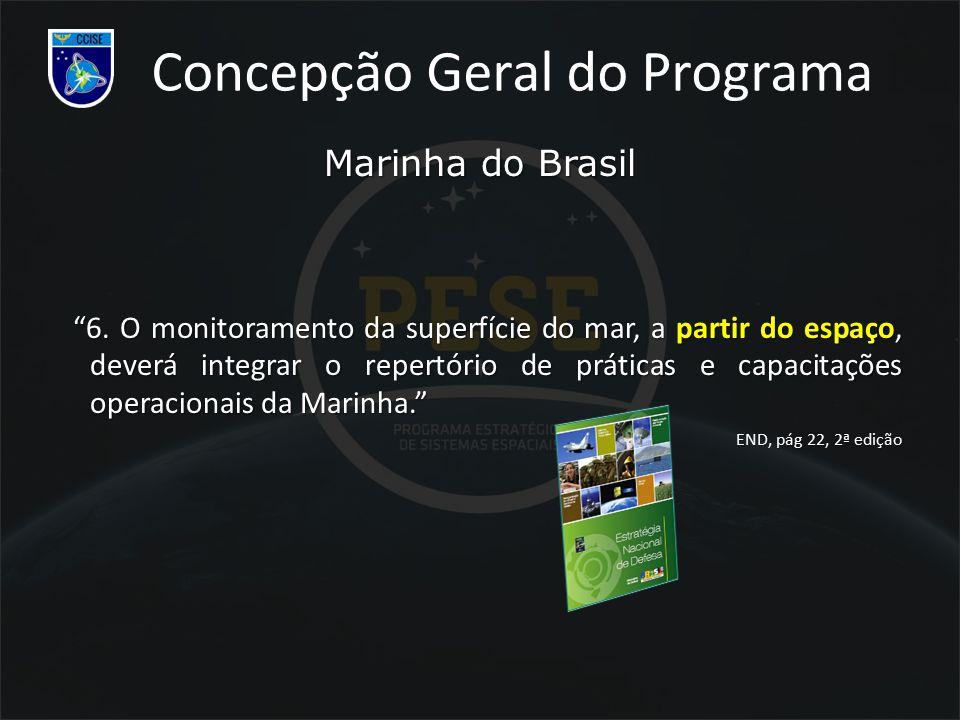 """Marinha do Brasil """"6. O monitoramento da superfície do mar, a partir do espaço, deverá integrar o repertório de práticas e capacitações operacionais d"""