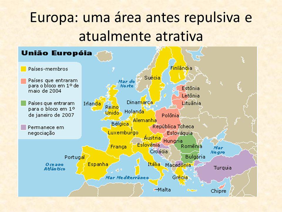 Europa: uma área antes repulsiva e atualmente atrativa