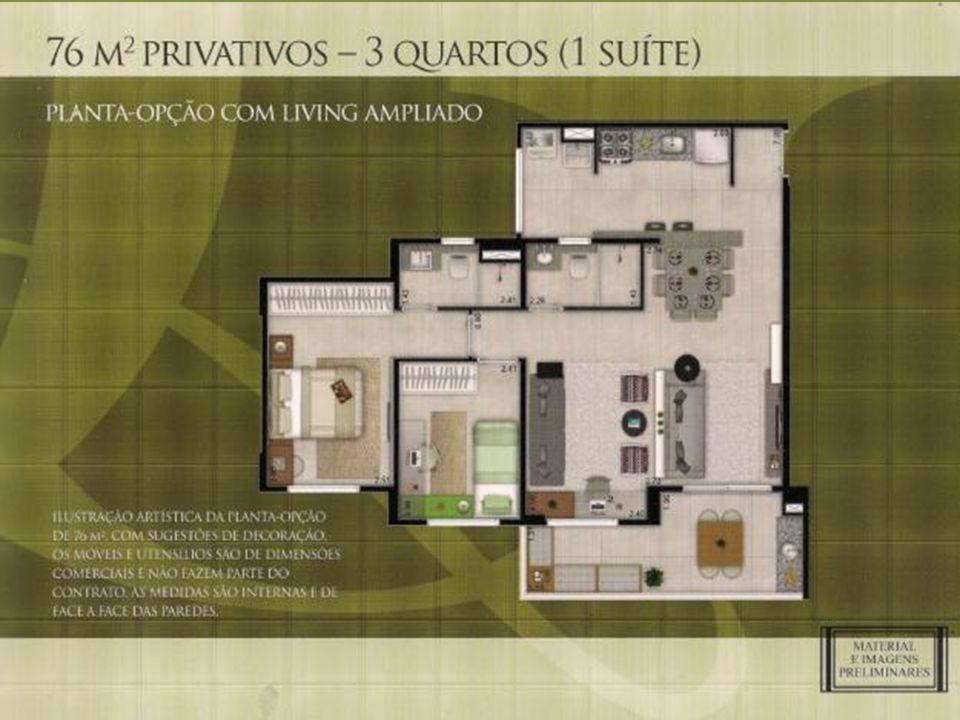 Terreno:28.220 m² 5 torres com 20 Pavimentos Aptos.: 2 quartos com suíte de (62 m²) 3 quartos com suíte (76 m²) 4 elevadores vagas por unidade 1 e 2 vagas extas 43 vagas para visitante