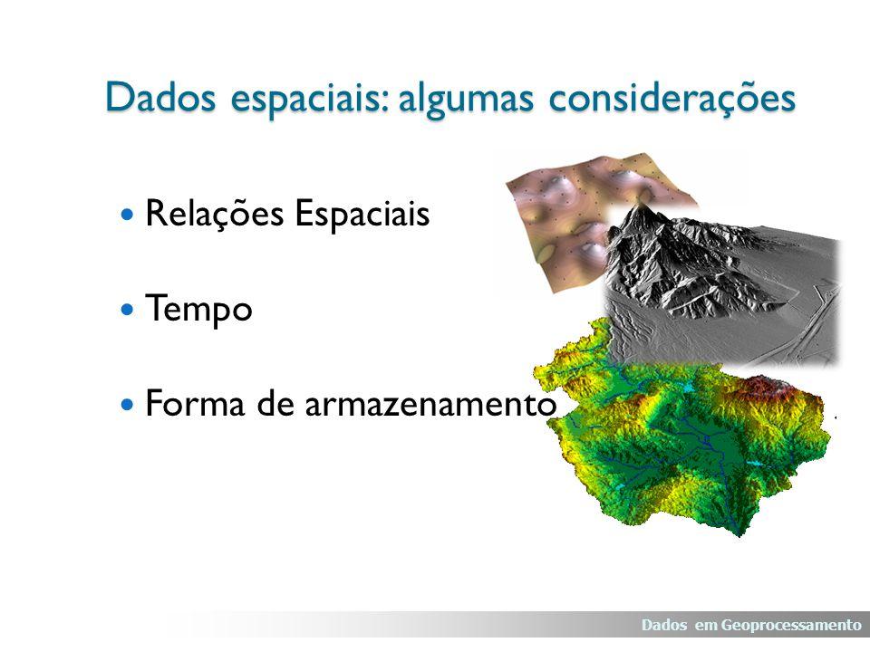 Redes: Exemplo – Distribuição de água Dados em Geoprocessamento Dados espaciais: representação vetorial Trecho Diâmetros Nominais (mm) Comprimento (m)Material 1200350FoFo 2150 PVC 330080Aço